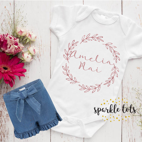 Baby Girl Gift, Personalised Baby Grow Baby Shower Gift