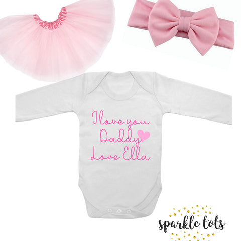 Baby Girl Outfit (Gift for Dad)