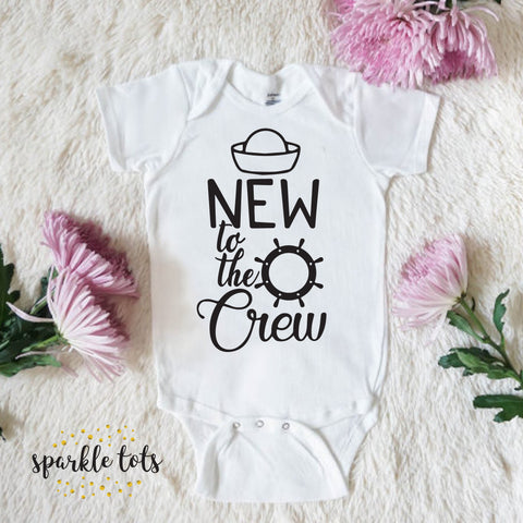 New to the Crew Family Funny Baby Grow Body Grow