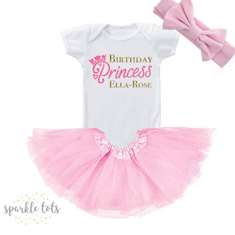 Birthday Princess outfit, girls personalised birthday outfit