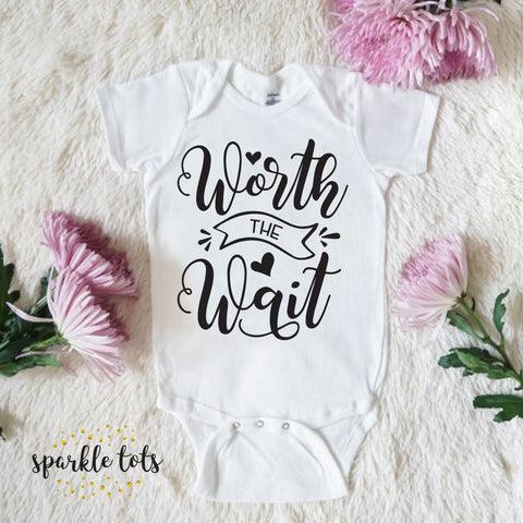 worth the wait baby gift, baby vest, cute baby shower present