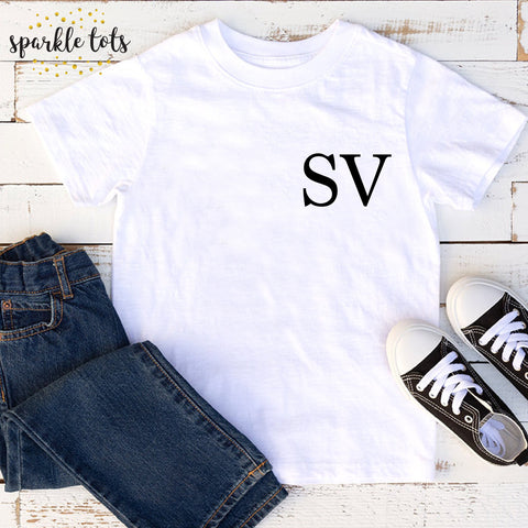 boys initial shirt, boys name shirts
