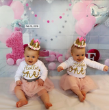 Girls Pink 1st Birthday 'One' Outfit