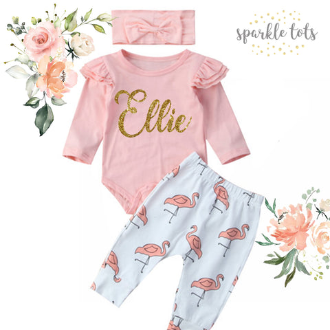 Personalised Baby Girl Outfit, Baby girl gift