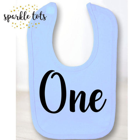 baby bib - birthday bib - birthday bibs - personalised bib - one bib - age bib - boys girls baby gift gifts - baby accessories - baby shower