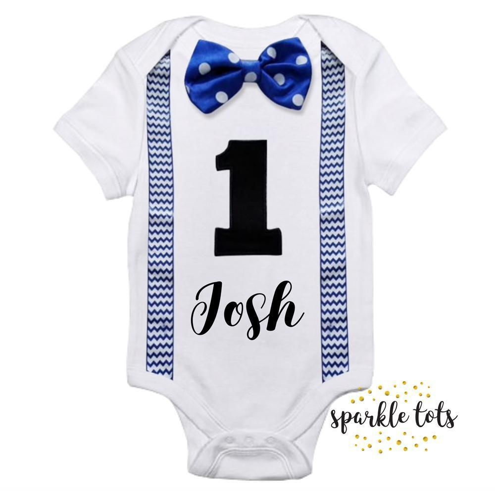 One bodysuit romper 1st Baby Vest First Birthday Vest Boys Outfit