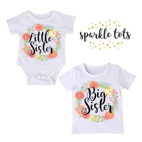 Big Sister Little Sister, Matching Sister Outfits, Big Sister Outfit, Personalized Sister Outfit, Little Sister Reveal, Boho Baby Shower