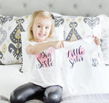 Big Sister Little Sister matching outfits, Big Sister little sister shirts, Outfit, Personalised little sister baby grow, baby shower gift