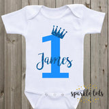 boys 1st birthday baby grow, 1st birthday romper, onesie, bodysuit, baby vest, personalised boys birthday outfit, first birthday boy