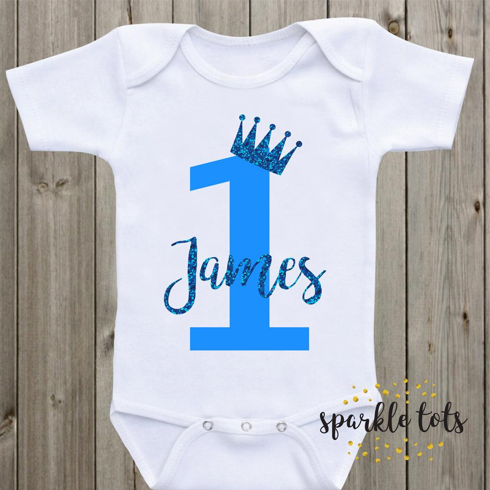 Personalised Boys Birthday Shirt Baby Grow Romper 1st 2nd 3rd 4th