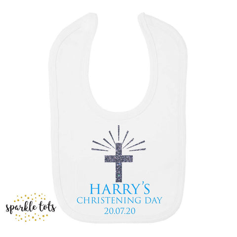 Boys christening bib
