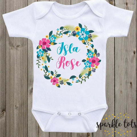 personalised baby clothes, custom baby grow, newborn girl baby gift, baby shower gifts, romper, onesie, baby vest, newborn baby gift