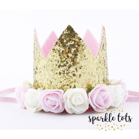 Glitter Flower Crown Hat (No Age)