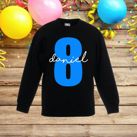 Boys birthday jumper