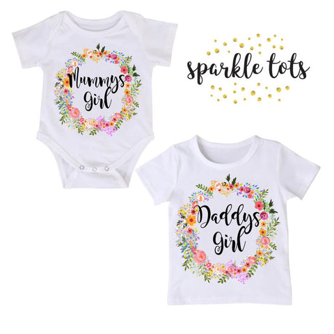 Mummy Girl, Daddys Girl, Big Sister Little Sister, Matching Sister Outfits, Big Sister Outfit, Personalised Sister Outfit, Gift for mum dad