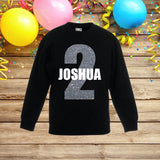 Boys personalised birthday top
