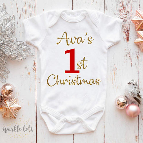 1st christmas baby grow