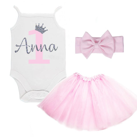 Girls 1st birthday tutu outfit