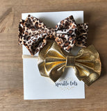 Gold bow headband