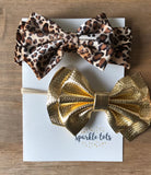 Leopard bow hair