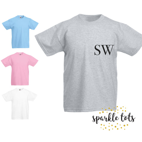 Children's Personalised Shirt, Boys initial t-shirt, Girls initial t-shirt, Toddler shirt, kids initial top, personalized shirt, boys custom