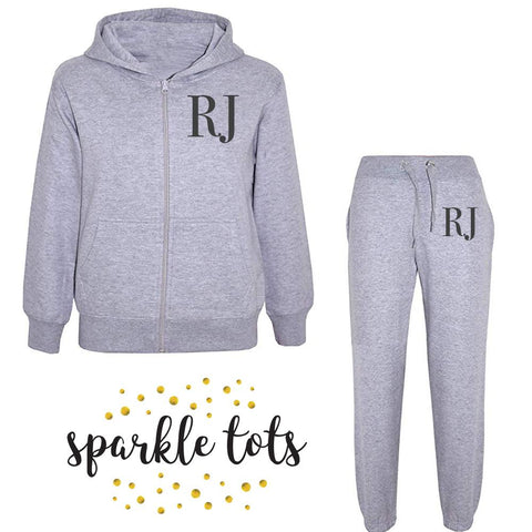 Kids Classic Initial Tracksuit Personalised Kids Initial Tracksuit, Girls Boys initial tracksuit, Kids personalised clothing, Toddler initial tracksuit, baby initial