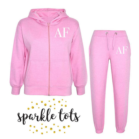 Kids Initial Tracksuit, Girls Boys initial tracksuit, Kids personalised clothing, Toddler initial tracksuit, baby initial