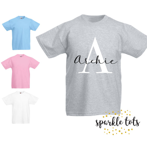 boys name shirt, Boys initial t-shirt, Girls initial t-shirt, Toddler shirt, kids initial top, personalized shirt, boys custom, personalised