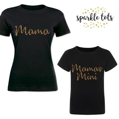 mum and baby girl matching outfits, Mama and Mamas Mini, Mummy daughter Baby T-Shirts, Mummy Gift Set, Mum Daughter Matching, Mama Girl