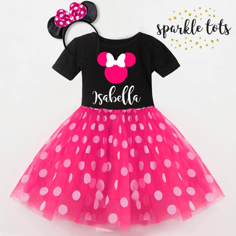 2ffcee9d6 Minnie Mouse outfit, personalised Minnie Mouse dress, Disneyland,  disneyworld, 1st, 2nd