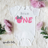 one 1st birthday baby outfit