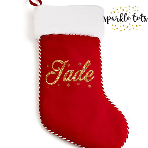 PPersonalised christmas stocking, Red Christmas stocking , personalised stocking , personalised, custom christmas sock stocking, xmas gifts