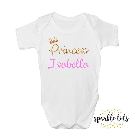 Baby Shower Gift, Girls baby shower gifts, baby girl gifts, custom name babygrow, girls personalised baby vest, cute new baby gifts, newborn