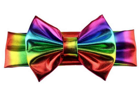 Rainbow headband - rainbow baby headband - bow hair accessory - baby girls bows