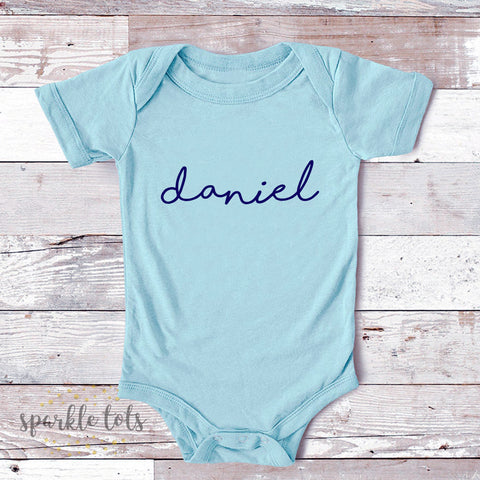 personalised baby boy clothing