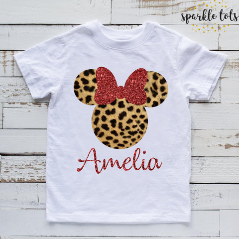 girls Disney shirt personalised Minnie Mouse