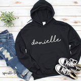 girls personalised hoodie
