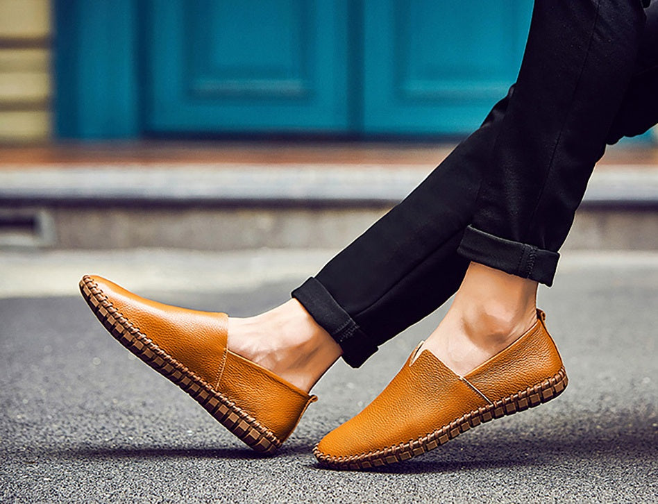 Leather Casual Slip-ons (5 colors)