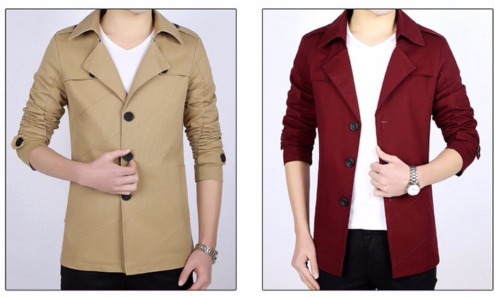 Medium-Long Casual Trench (4 colors)
