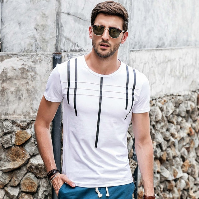 Fashion Printed T-shirt  (3 colors)
