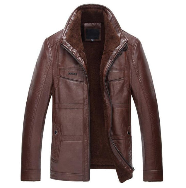 Warm Leather Jacket (3 colors)
