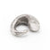 MONSTER COMMA RING DIRTY SILVER