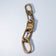 INFINITY CHAIN BRACELET LARGE LINK MATTE BRASS WITH ONE CLOSED LINK