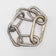 INFINITY BRACELET MEDIUM LINK ACID SILVER/ ONE BRASS LARGE LINK