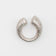 ASYMMETRIC U-RING MATTE STERLING