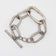 TOGGLE BRACELET SMALL LINKS ACID SILVER/ ONE MEDIUM LINK FADED MATTE BRASS