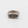 SHORT ROMAN RING MATTE STERLING W/ QUARTZ