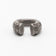 U-RING CHUNKY MEGA PAVE TIPS MATTE STERLING