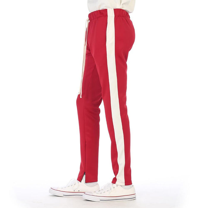 EPTM - Track Pants in Red/Ivory