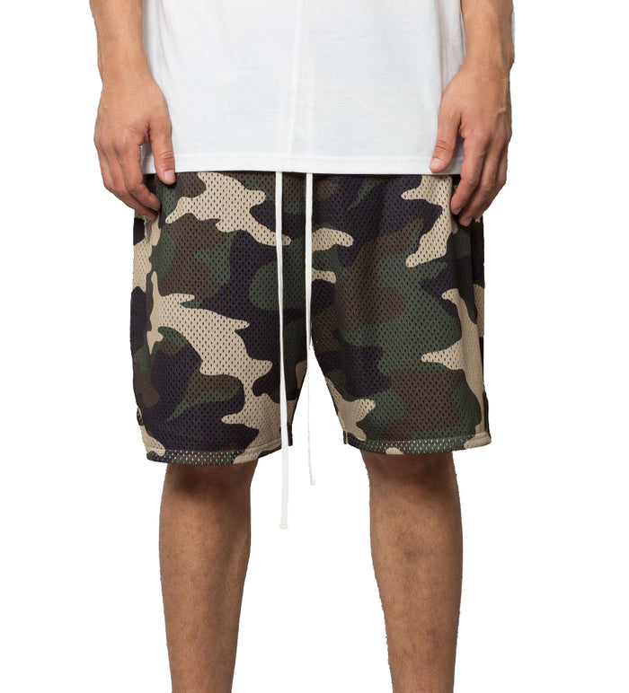 Elwood - Camo Mesh Zip Pocket Shorts